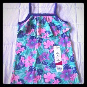 Girls flower tank top
